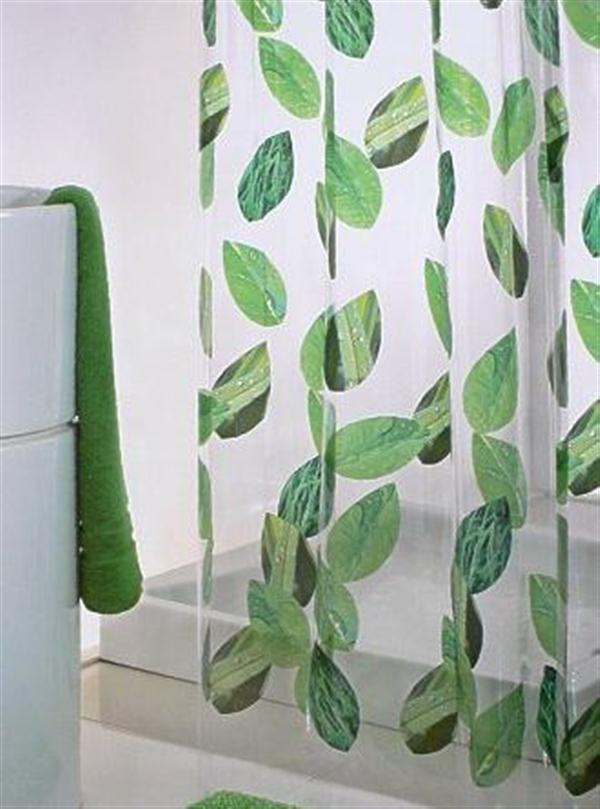 Bathroom Decorating Ideas with Shower Curtains in Green Themes ...