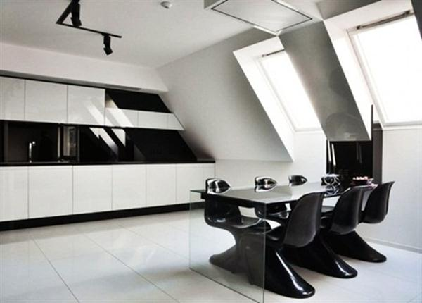 Black And White Apartment Decorating