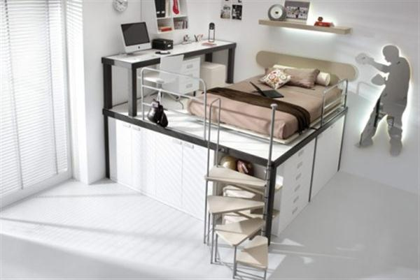 Contemporary Teenagers And Kids Bunk Beds And Lofts