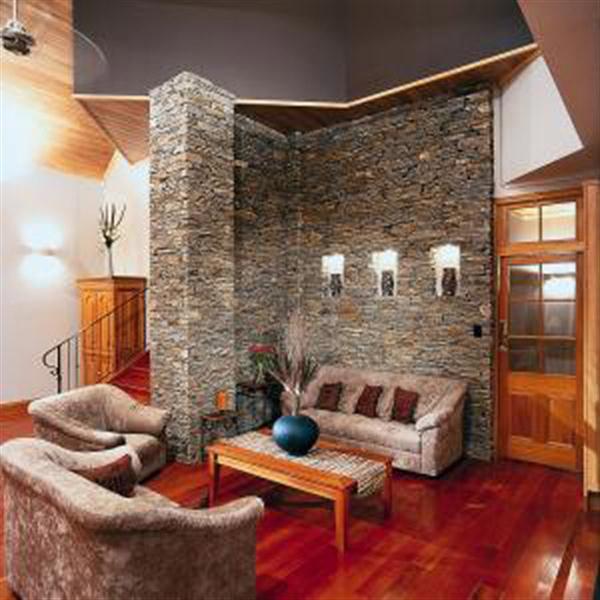 Enchanting Modern Lodge Design with Wood and Stone : Modern Lodge Decor
