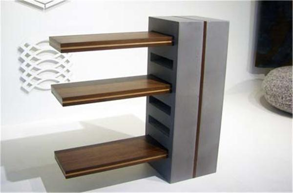 Contemporary Shelf Design picture above, is one of few pictures from  article The Unique Contemporary Handcrafted T4 Shelves ...