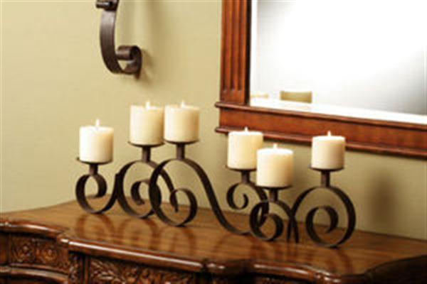 Fireplace Candle Holder Insert