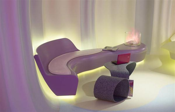 Fascinating Organic Shapes On Futuristic Home Interior Design And Decoratng Ideas By Karim