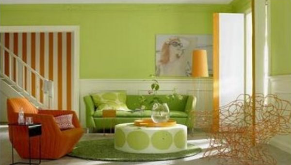 Green Color Living Room