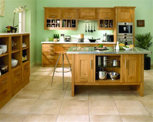 Green Colour Kitchen Design