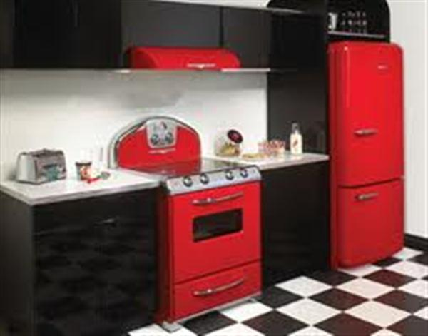 Kitchen Paint Black Red