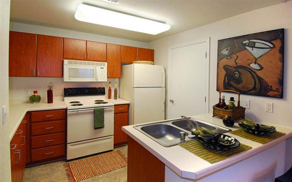 Mandarina Apartment Homes Kitchen
