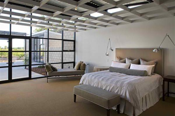 Modern Glass House Design Bedroom