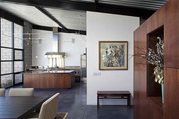 Modern Glass House Design Kitchen