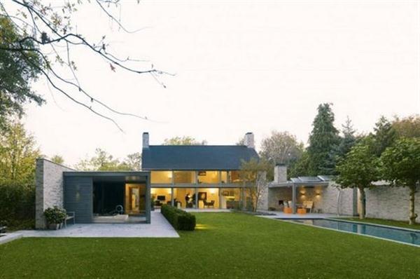 modern contemporary home design on traditional villa rotunda by bedaux de brouwer architecten modern home landscape design. beautiful ideas. Home Design Ideas
