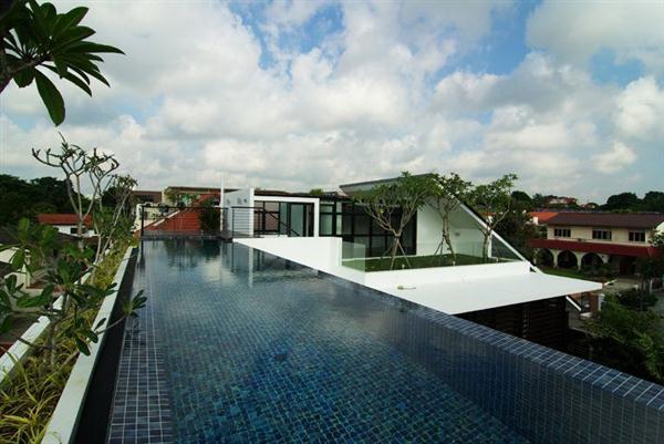 Modern House Sloped Roof