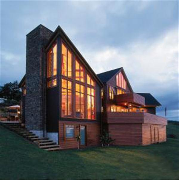 Enchanting Modern Lodge Design with Wood and Stone ...