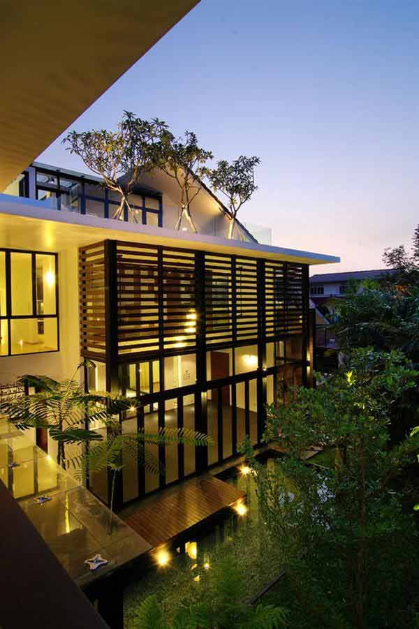 Modern Sloping Roofs Picture Above, Is One Of Few Pictures From Article The  Unique Contemporary Sloped Roof Design ...