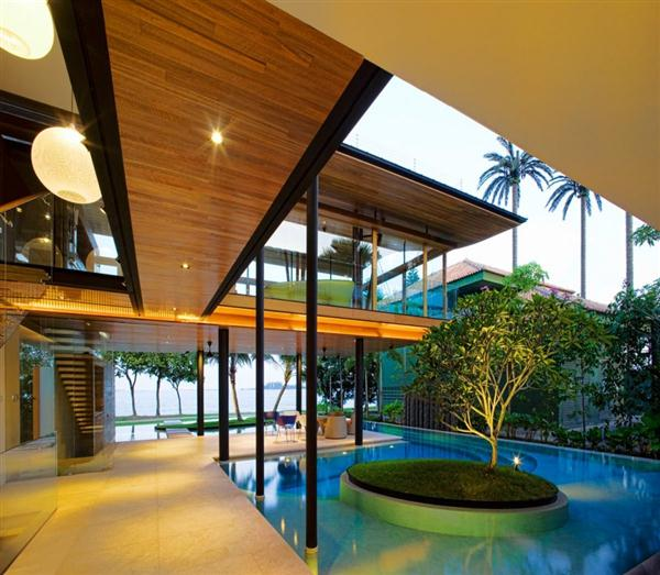 Seafront House Design Swimming Pool