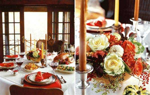 Thanksgiving day home decors with thanksgiving dining room for Dining room decorating ideas for thanksgiving