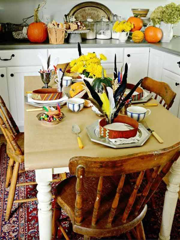 Thanksgiving day home decors with thanksgiving dining room for Thanksgiving home decorations