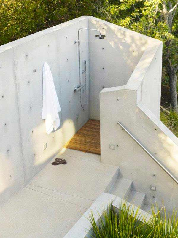 Tree House Design Open Shower