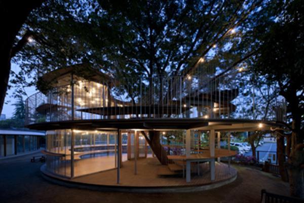 Children Cheerfulness In Unique Sphere Living Design Of Fuji Kindergarten By Tekuza Architects Exterior