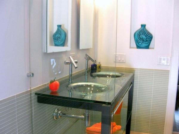 Unique Roof Design Bathroom Vanity