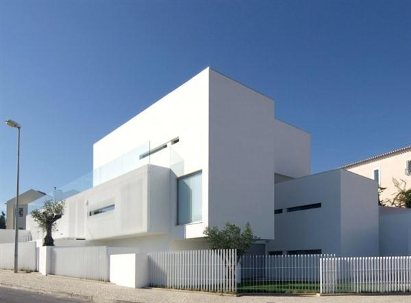 White Concrete House