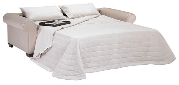 White Fabric Sofa Bed