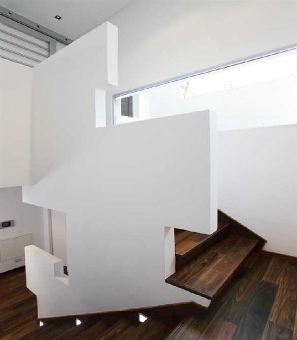 Wooden Staircase Home Interior