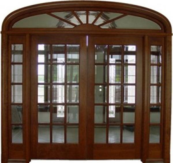 dark wood entryway door