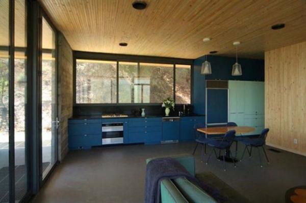 modern hill home  kitchen